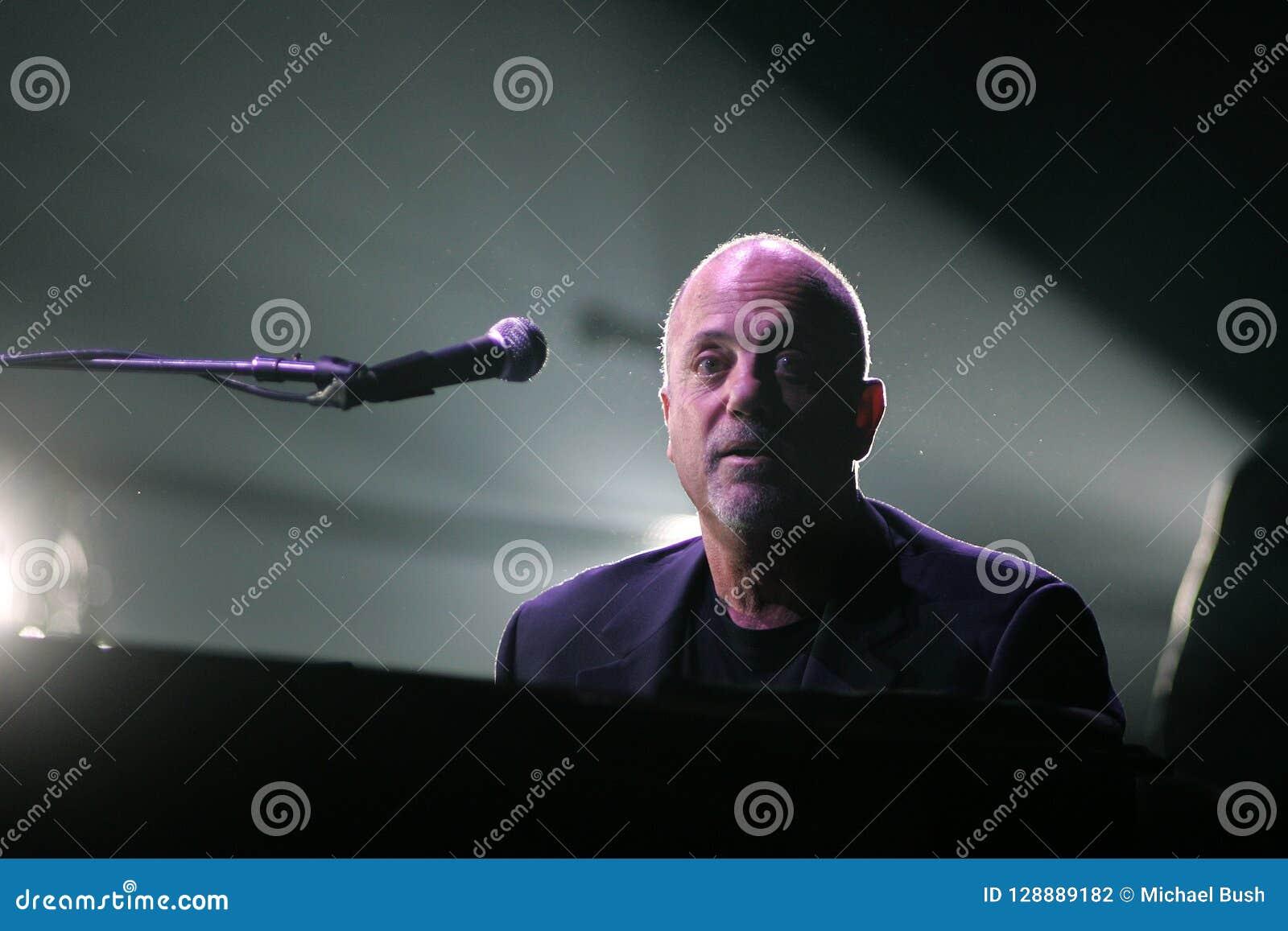 Billy Joel Performs in Concert