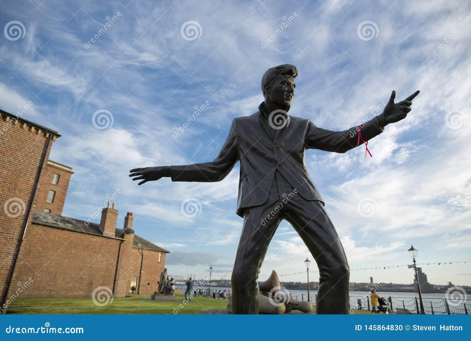 Billy w?ciek?o?ci statuy pomnik, Albert dok, Rzeczny Mersey, Liverpool, UK 11th 2014 Czerwiec