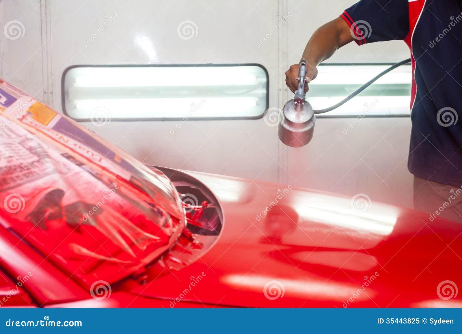 Bilmålningarbete