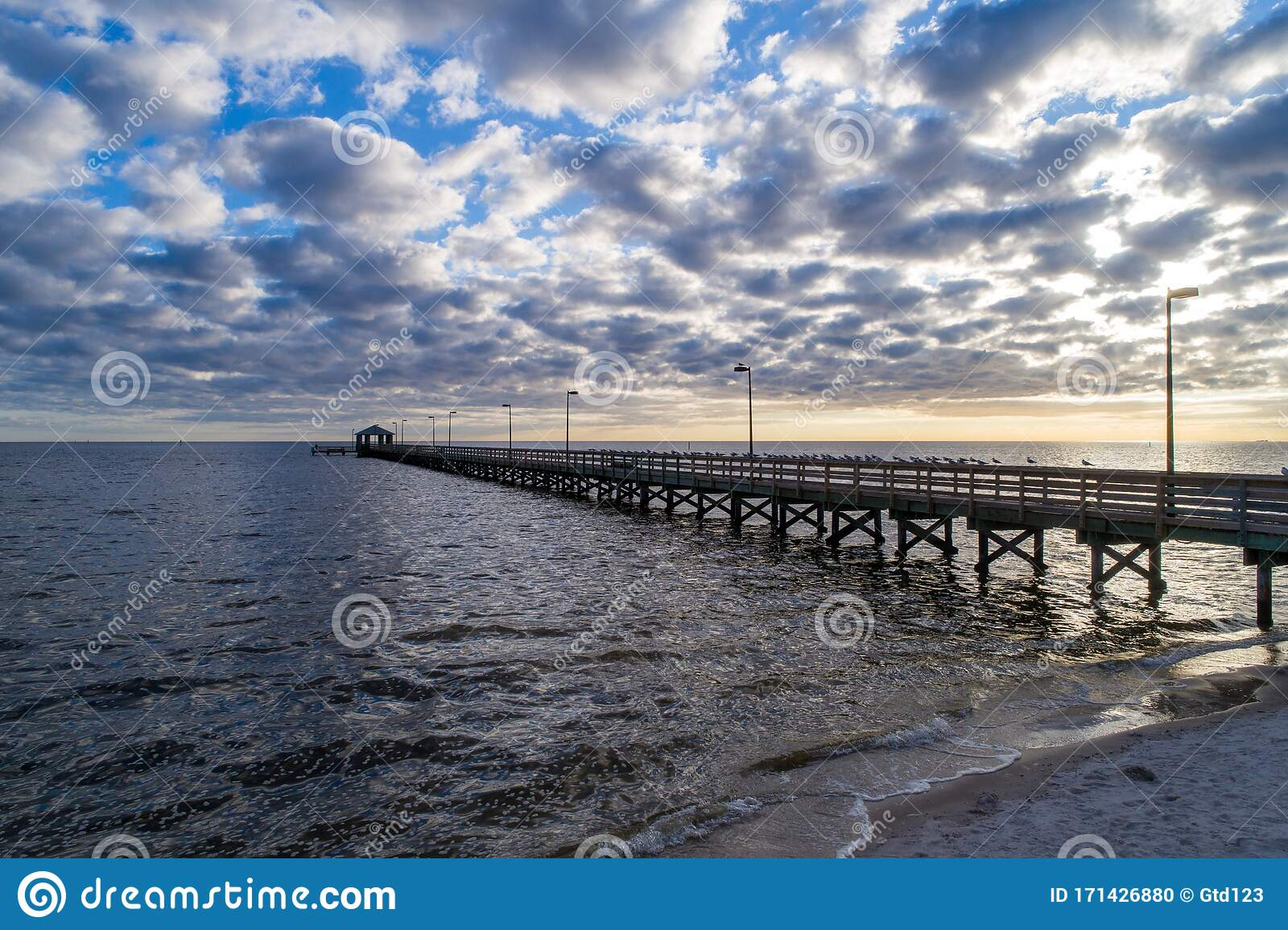 Biloxi Mississippi Beach Stock Photo Image Of Travel 171426880