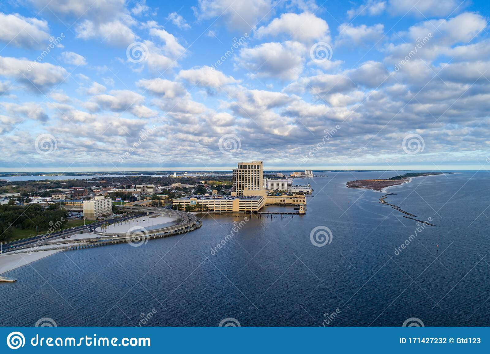 Biloxi Mississippi Beach Stock Photo Image Of Cloudscape 171427232