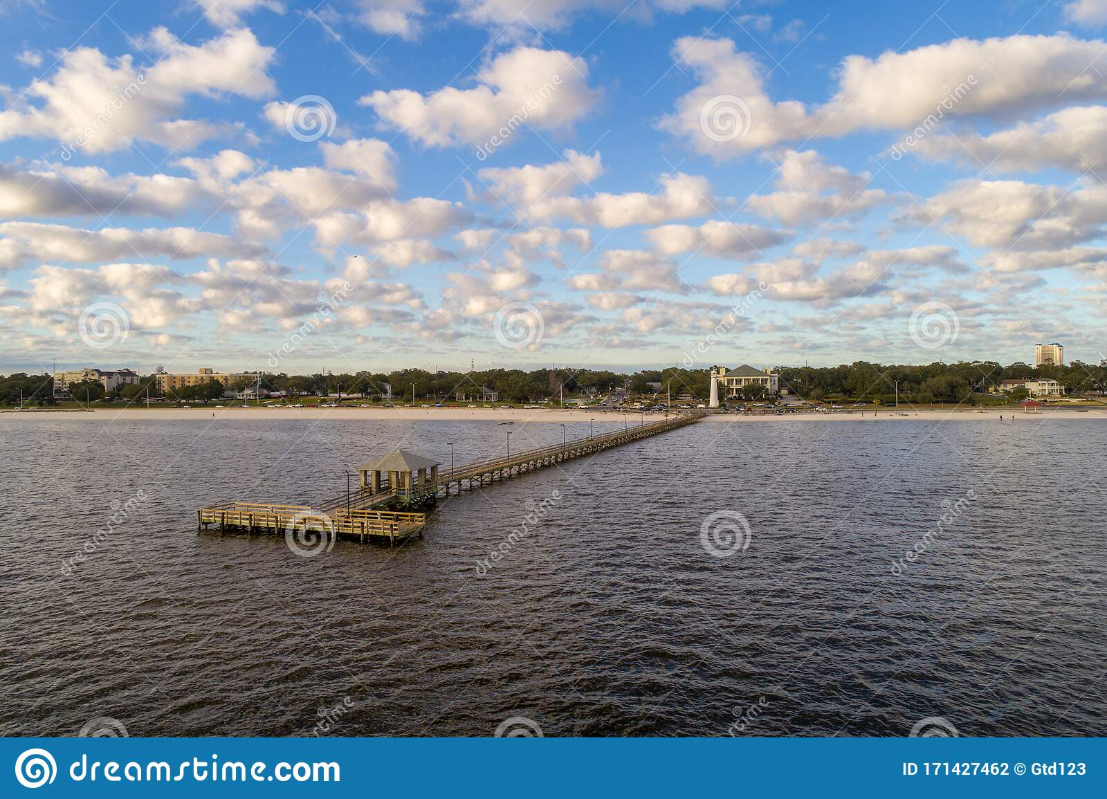 Biloxi Mississippi Beach Stock Photo Image Of America 171427462
