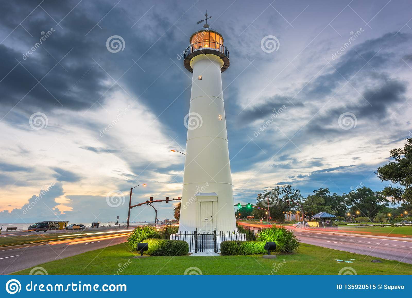 Biloxi, Mississippi USA at Biloxi Lighthouse