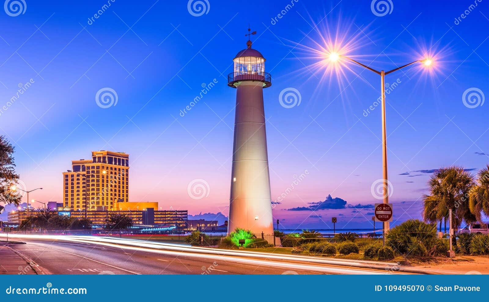 Biloxi Mississippi Usa Stock Photo Image Of Illumination 109495070
