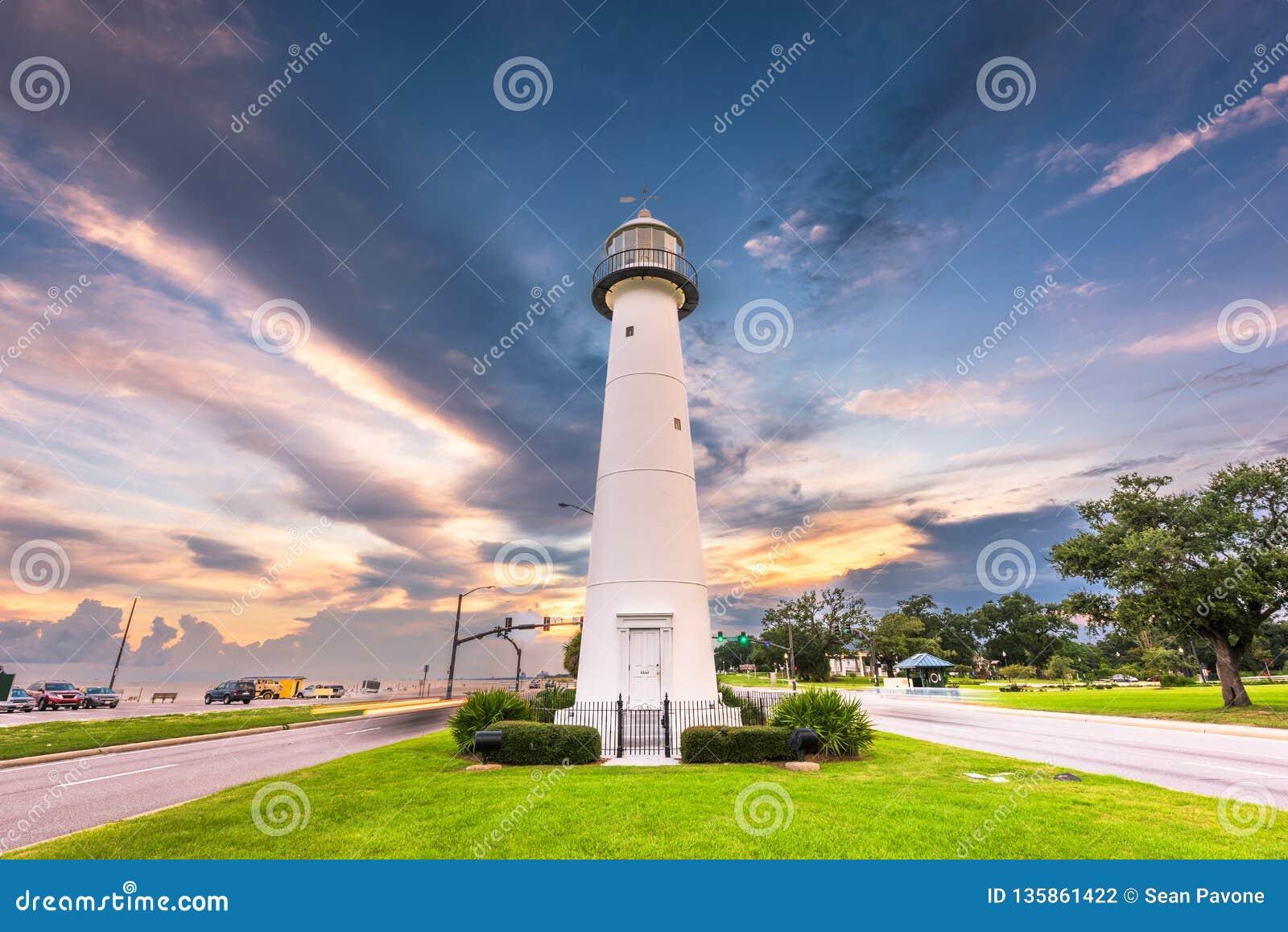 Biloxi Mississippi Usa At Biloxi Lighthouse Stock Photo Image Of Mississippi Location 135861422