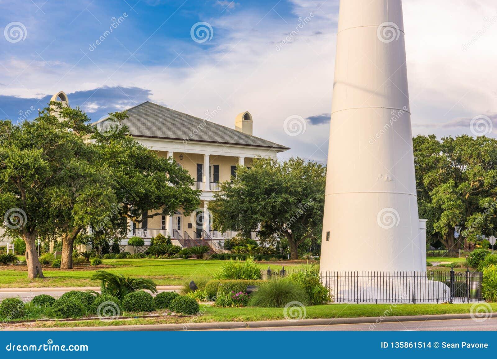 Biloxi Mississippi Usa At Biloxi Lighthouse Stock Photo Image