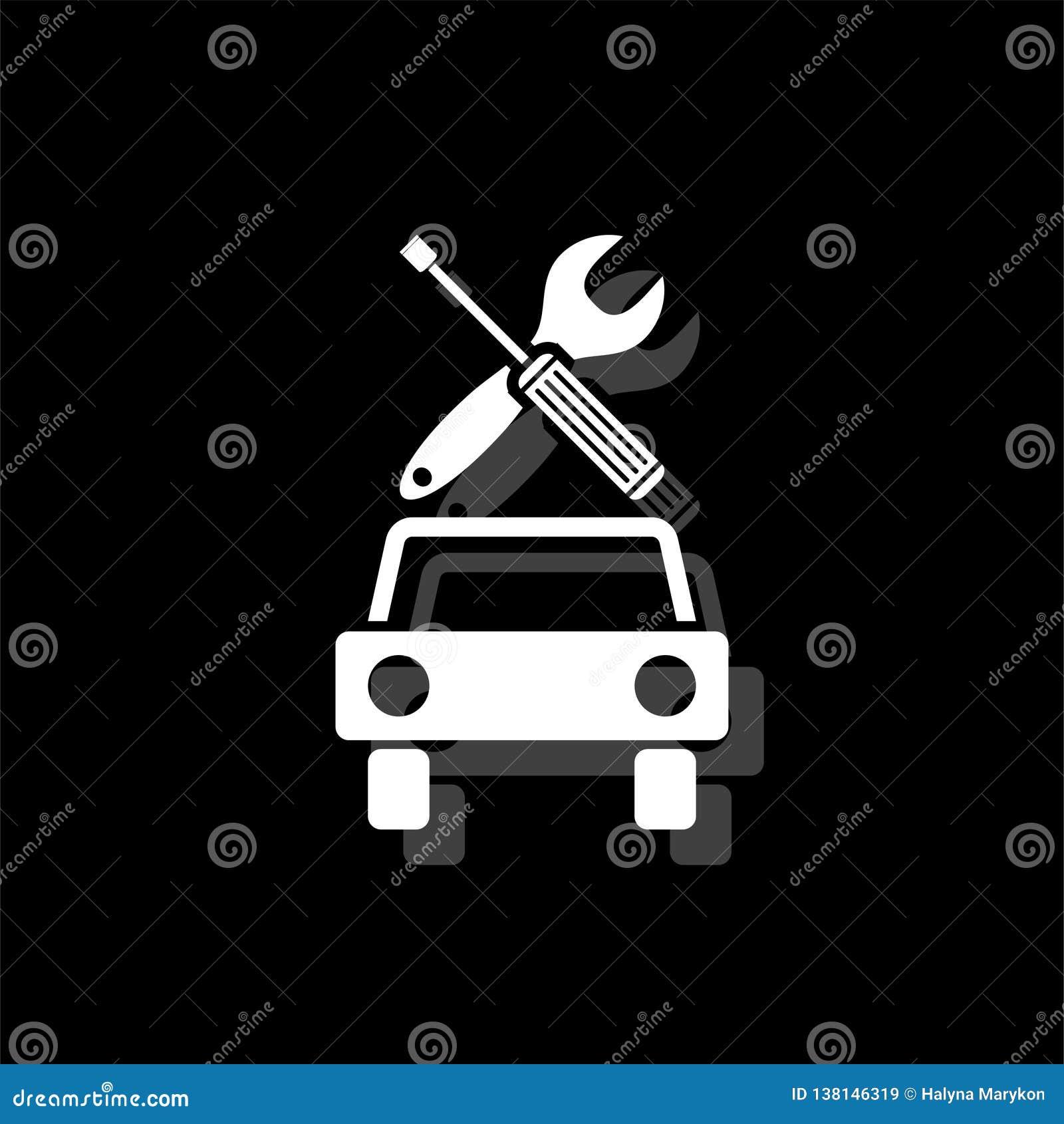 Bilservicesymbol framlänges