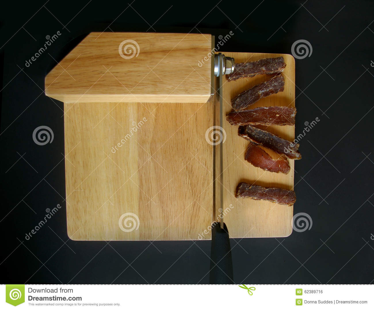 Biltong Dried Meat With Slicer Stock Photo - Image of dried