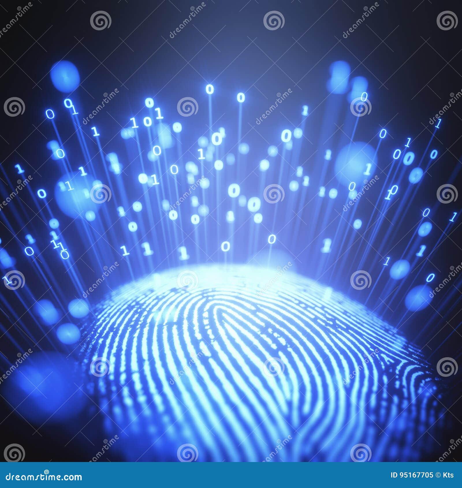 Binär kod för fingeravtryck