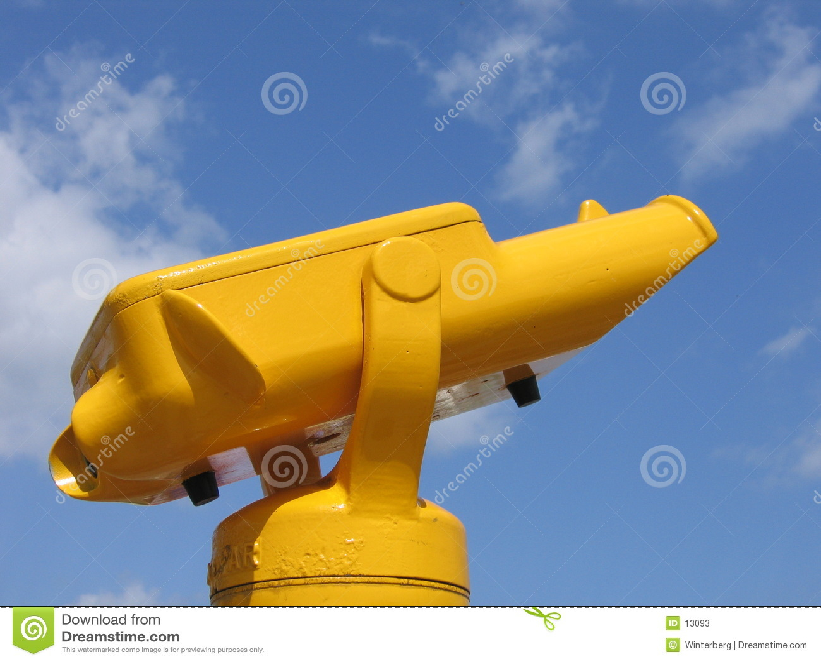 Binóculos amarelos