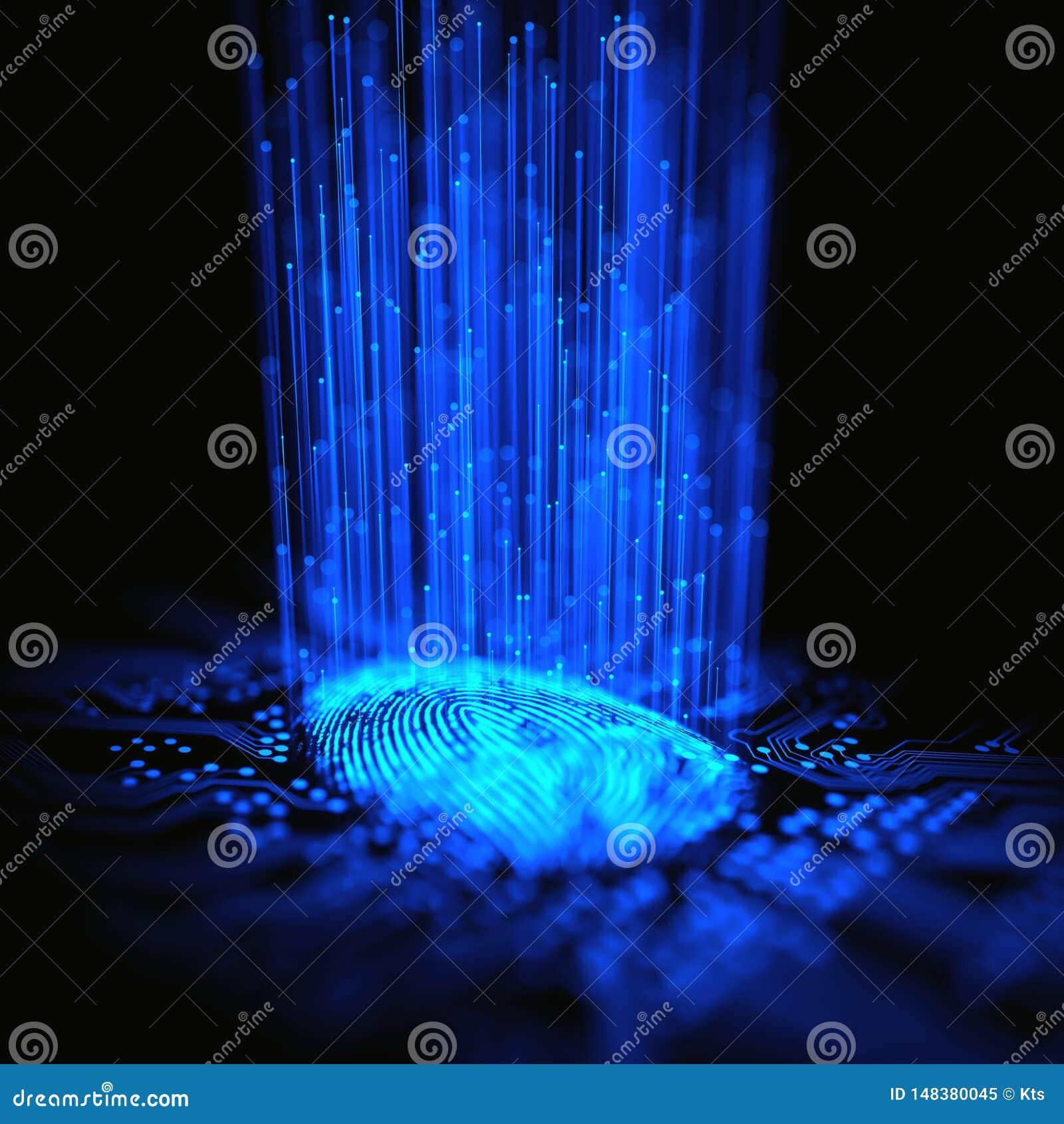 Bin?r mikrochips f?r fingeravtryck