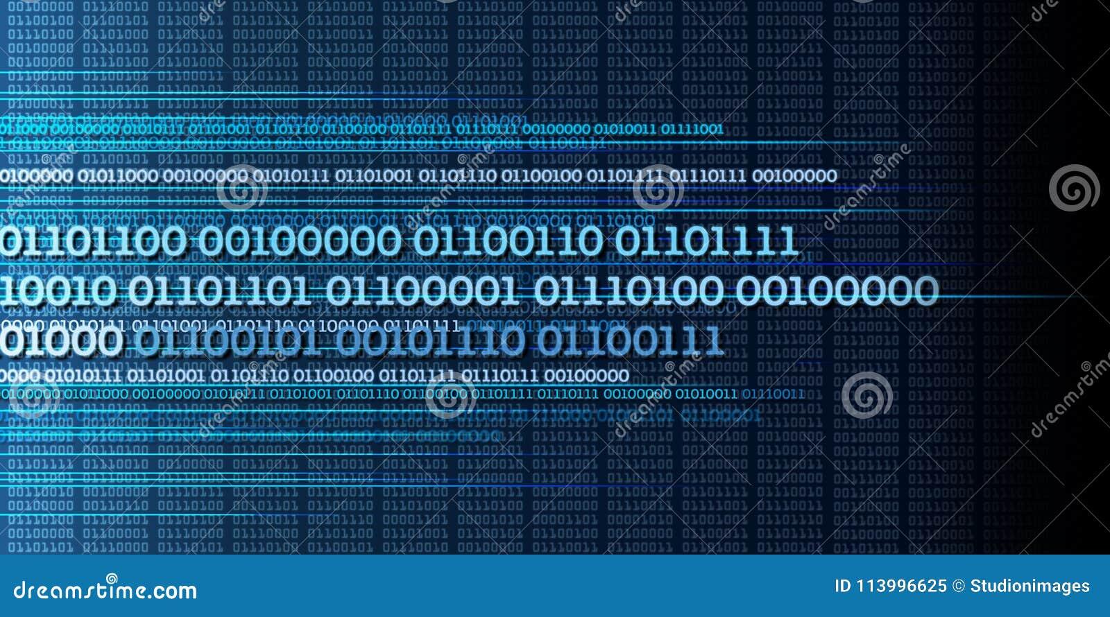 Binaire gegevensstroom, binaire aantallen, grote gegevens, informatie - dyna