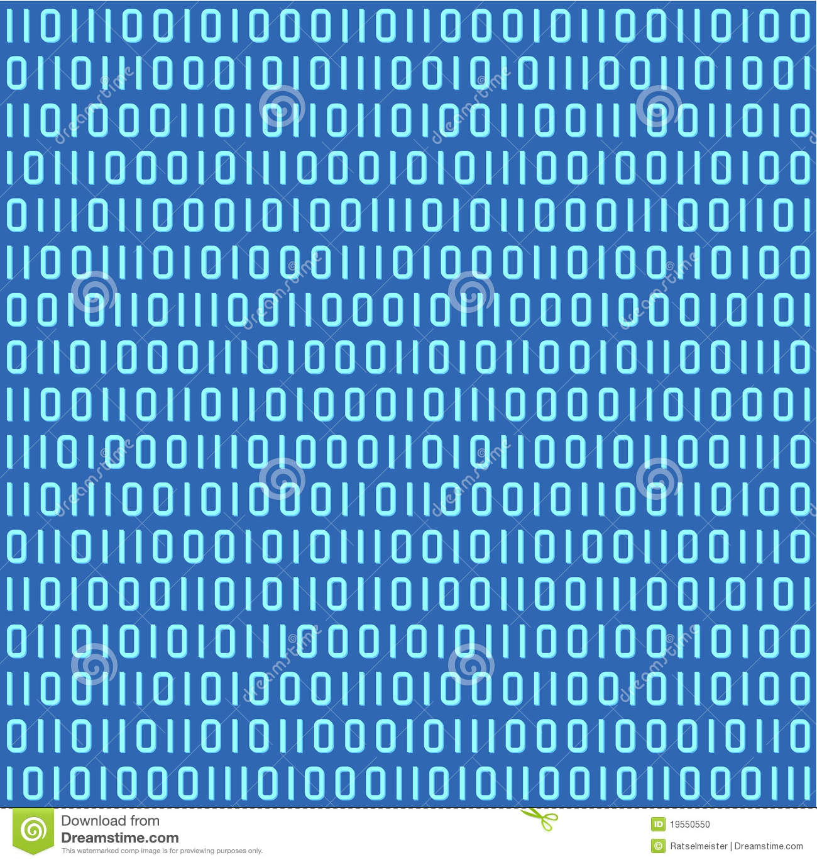 Binarnego kodu wzór bezszwowy
