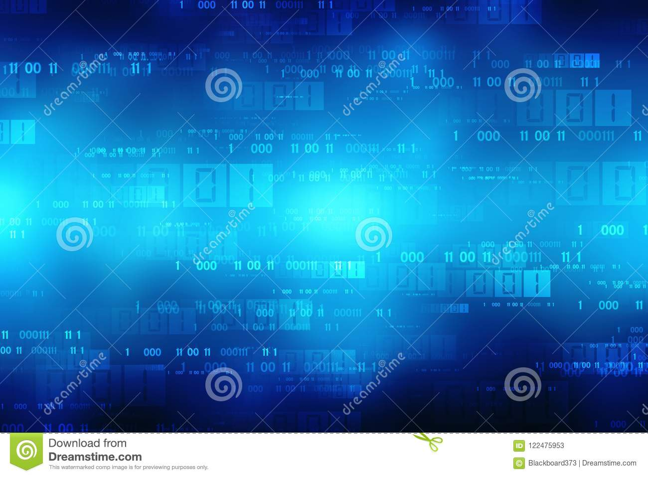Binary Code Background, Digital Abstract technology background