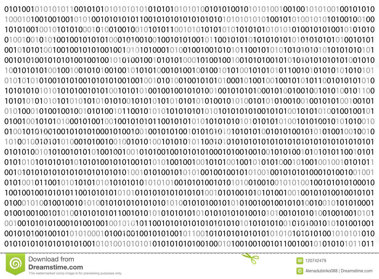 Binary Code Background  Sheet Of Binary Codes Listing  Coding Or