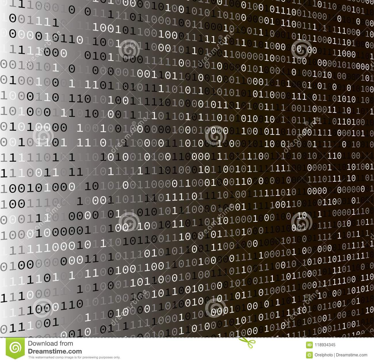 Binary Code Internet Security Concept Stock Vector Illustration