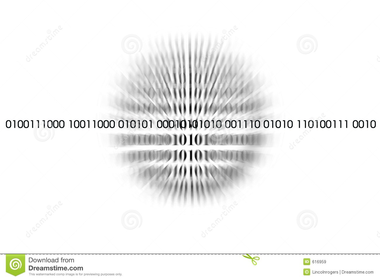 Binary Code Over White Royalty Free Stock Images Image