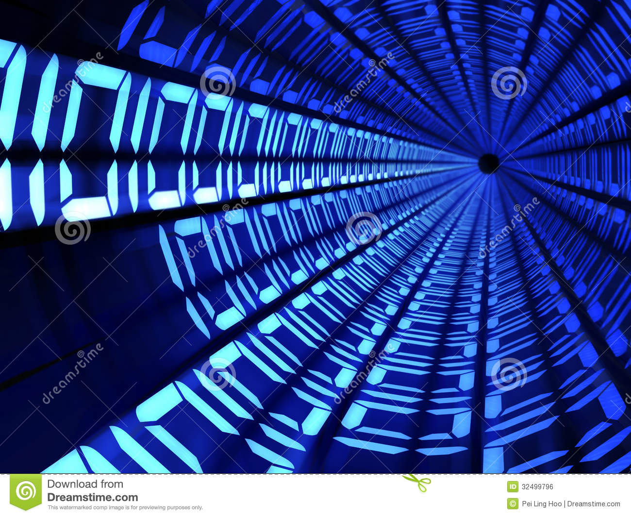 Binary Code Tunnel Technology Concept Royalty Free Stock ...