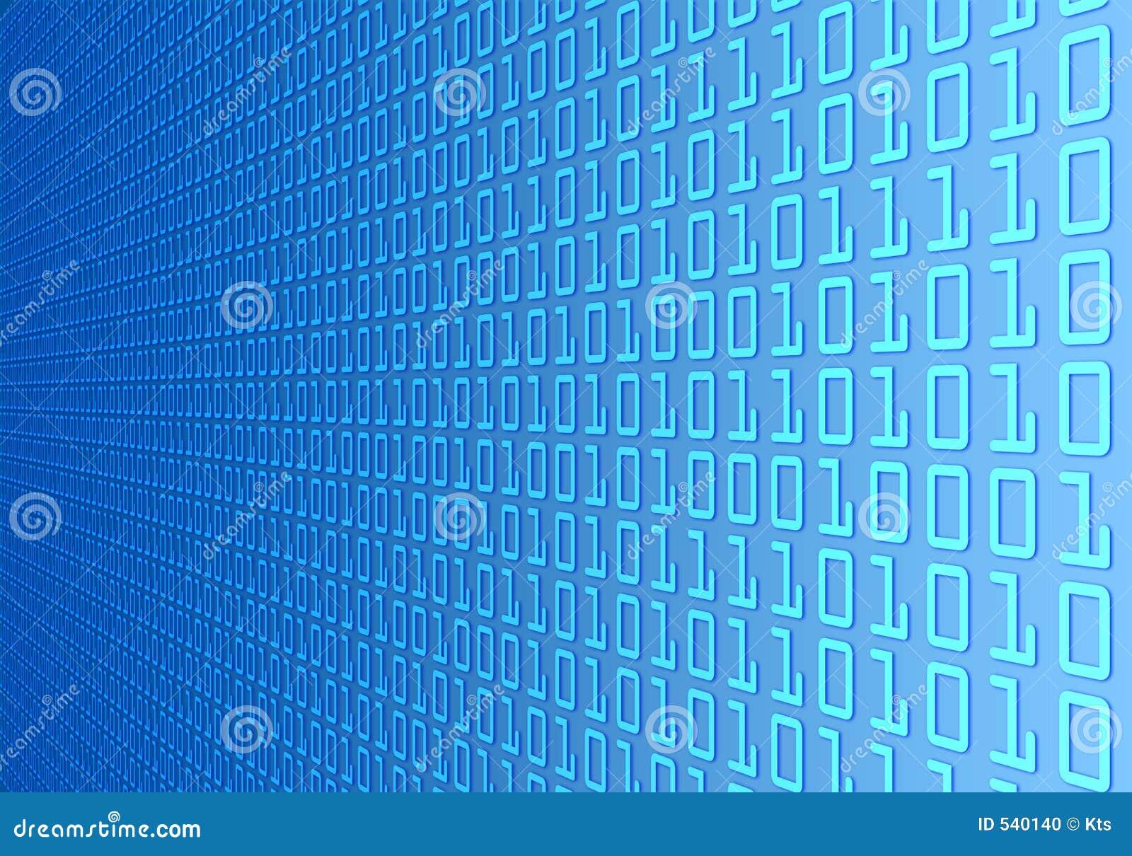 Binary code wall