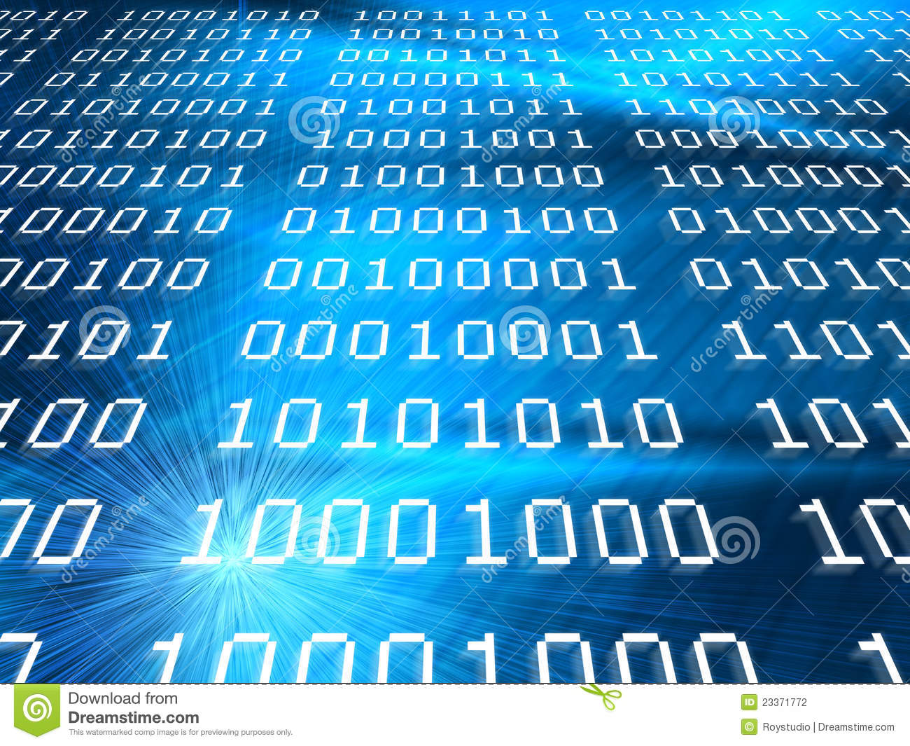 Binary codes abstract blue background