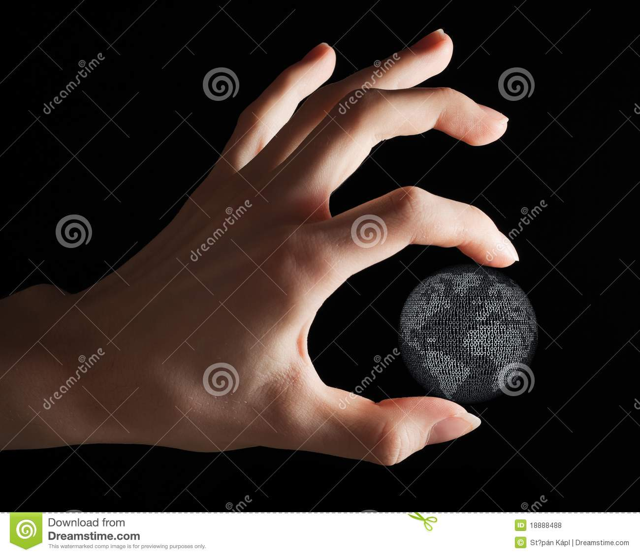 Binary earth between fingers