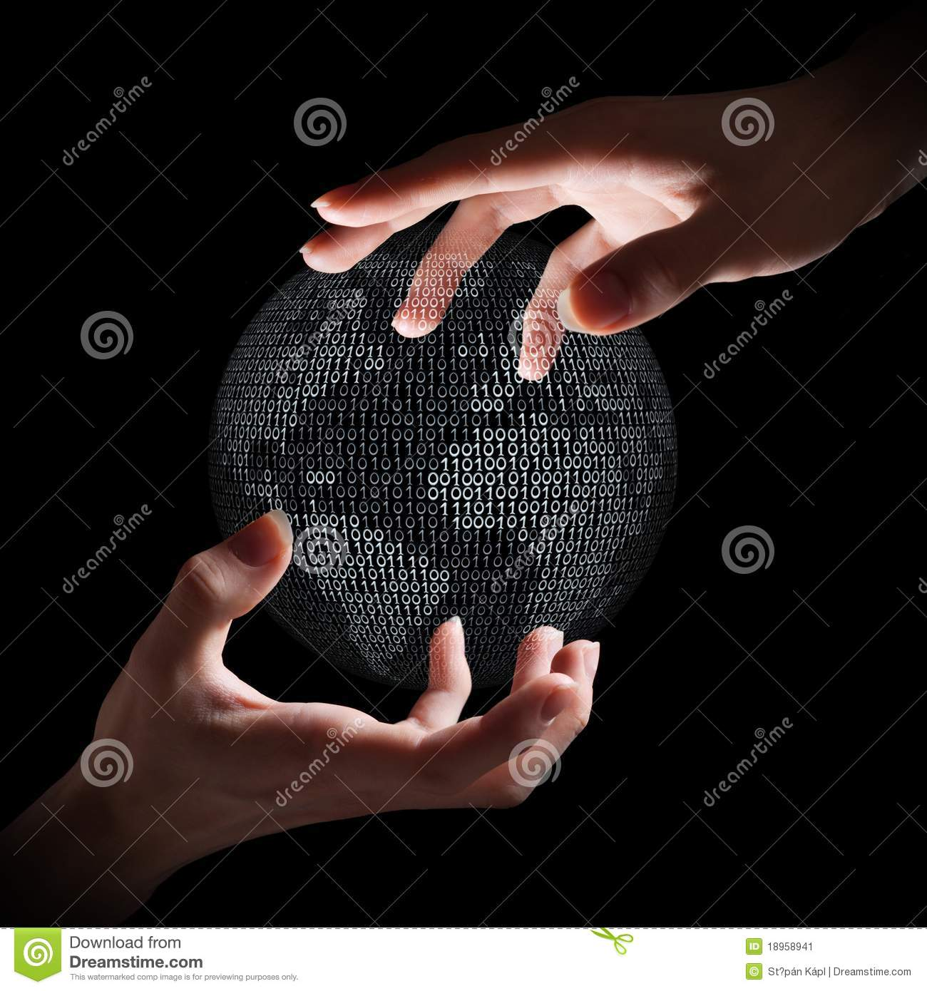 Binary earth in hands