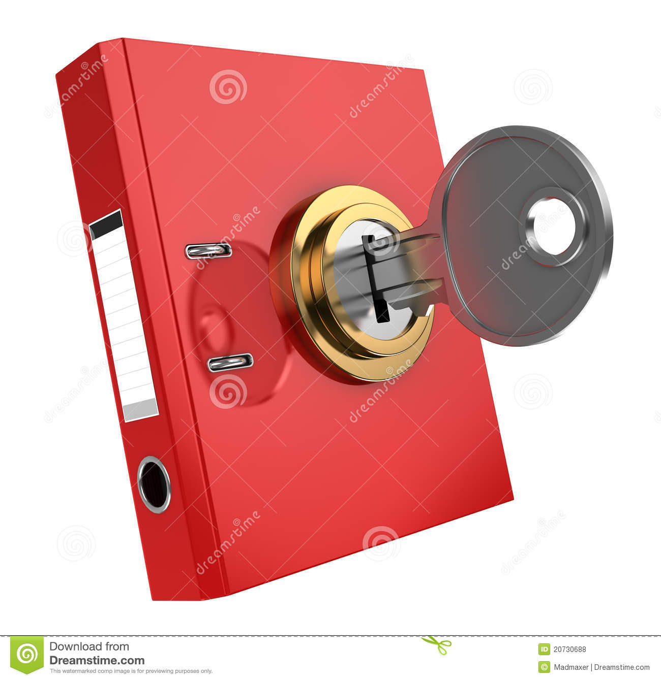 Binder folder locked stock illustration. Image of metal ...