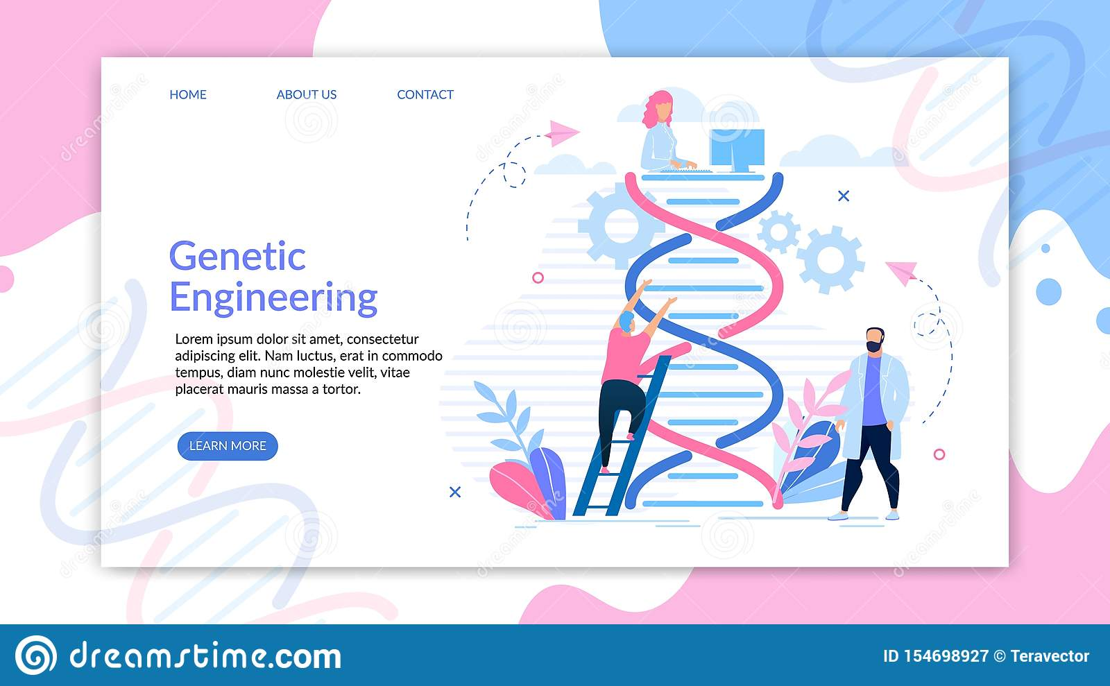 Binformative Banner Engineering Genetic Cartoon.
