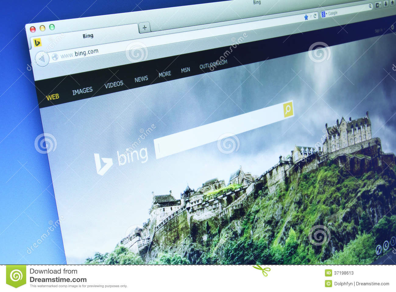 Bing Website Editorial Stock Photo. Image Of Monitor