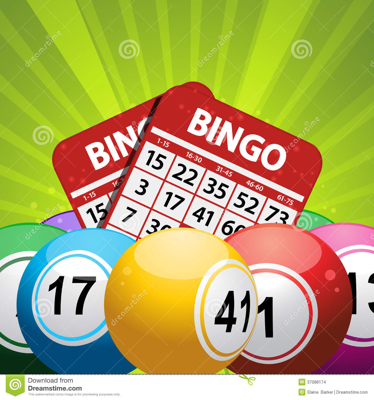 More similar stock images of ` Bingo balls and card background on a ...