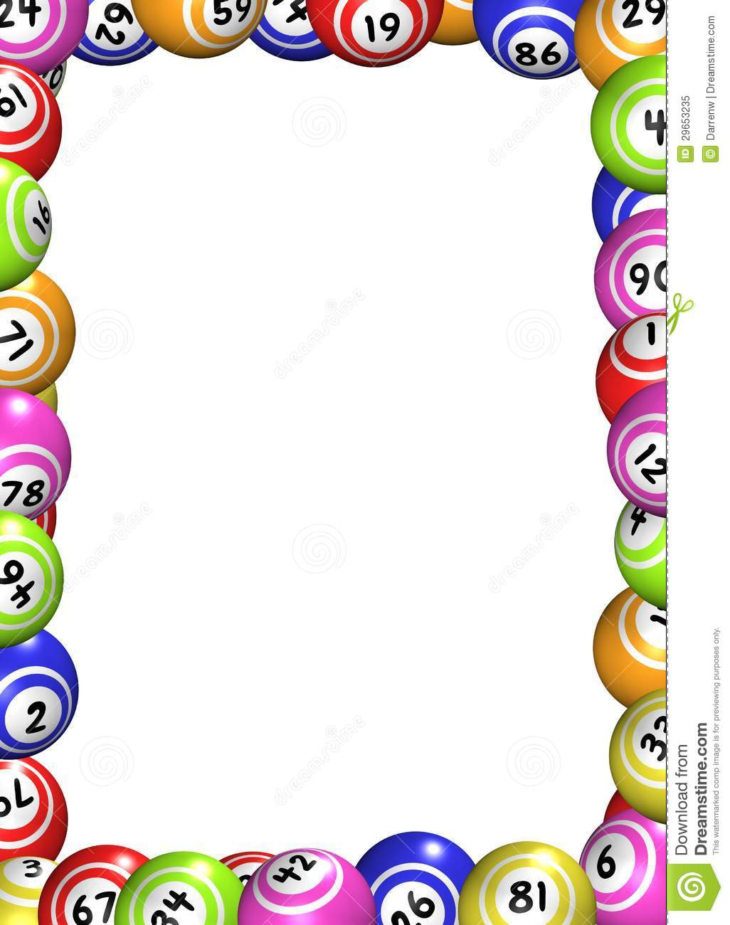 Bingo Balls Frame Royalty Free Stock Photo Image 29653235