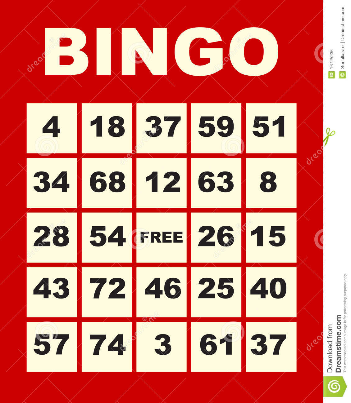 Bingo Card Royalty Free Stock Image - Image: 16725236