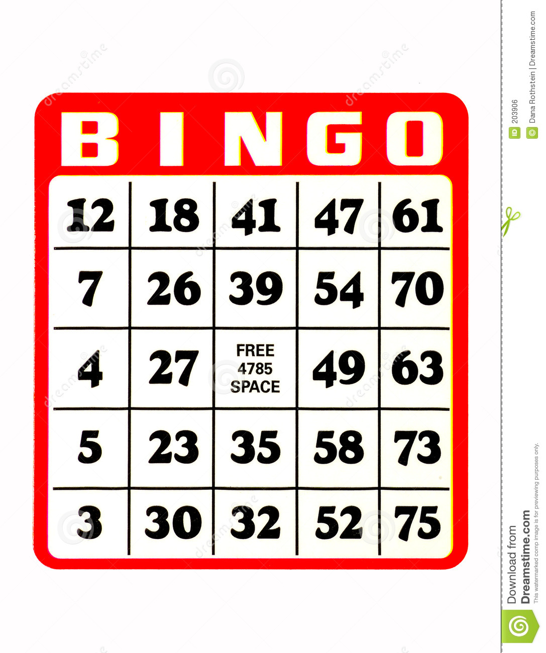 Royalty Free Stock Image Bingo Card Image203906 on Number Bingo 1 10 Printable