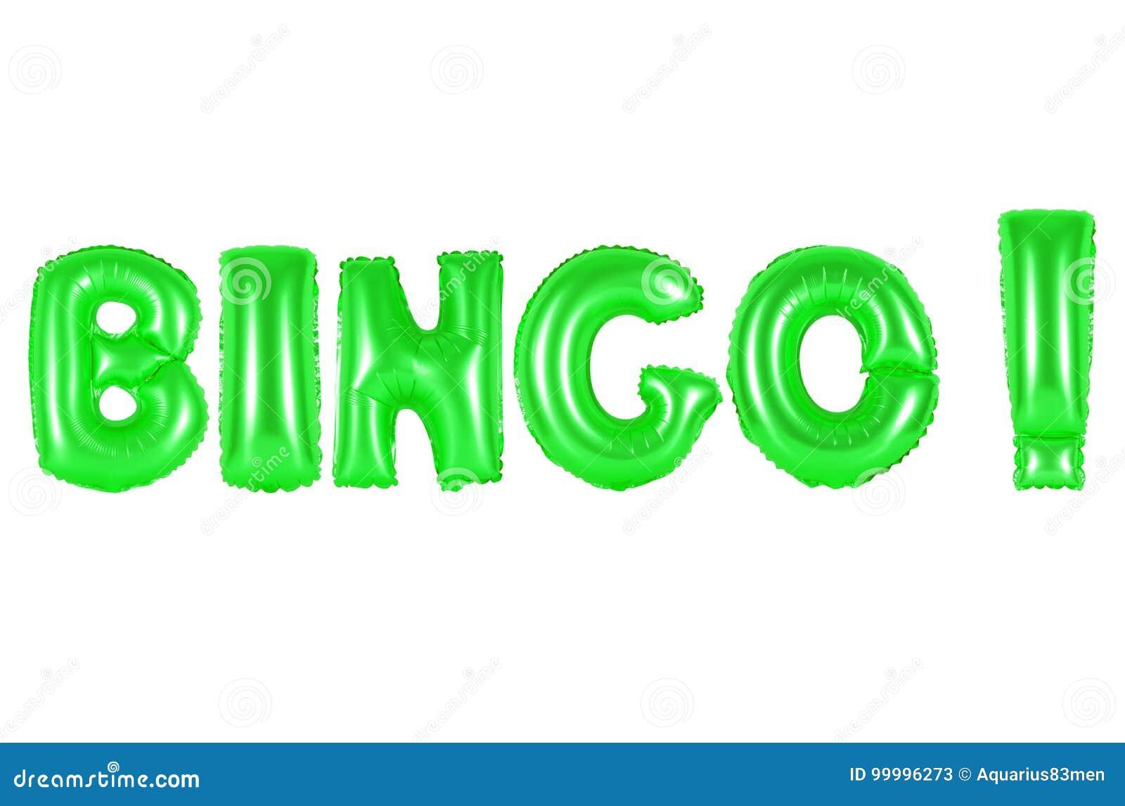 Bingo, green color stock image. Image of foil, concepts - 99996273
