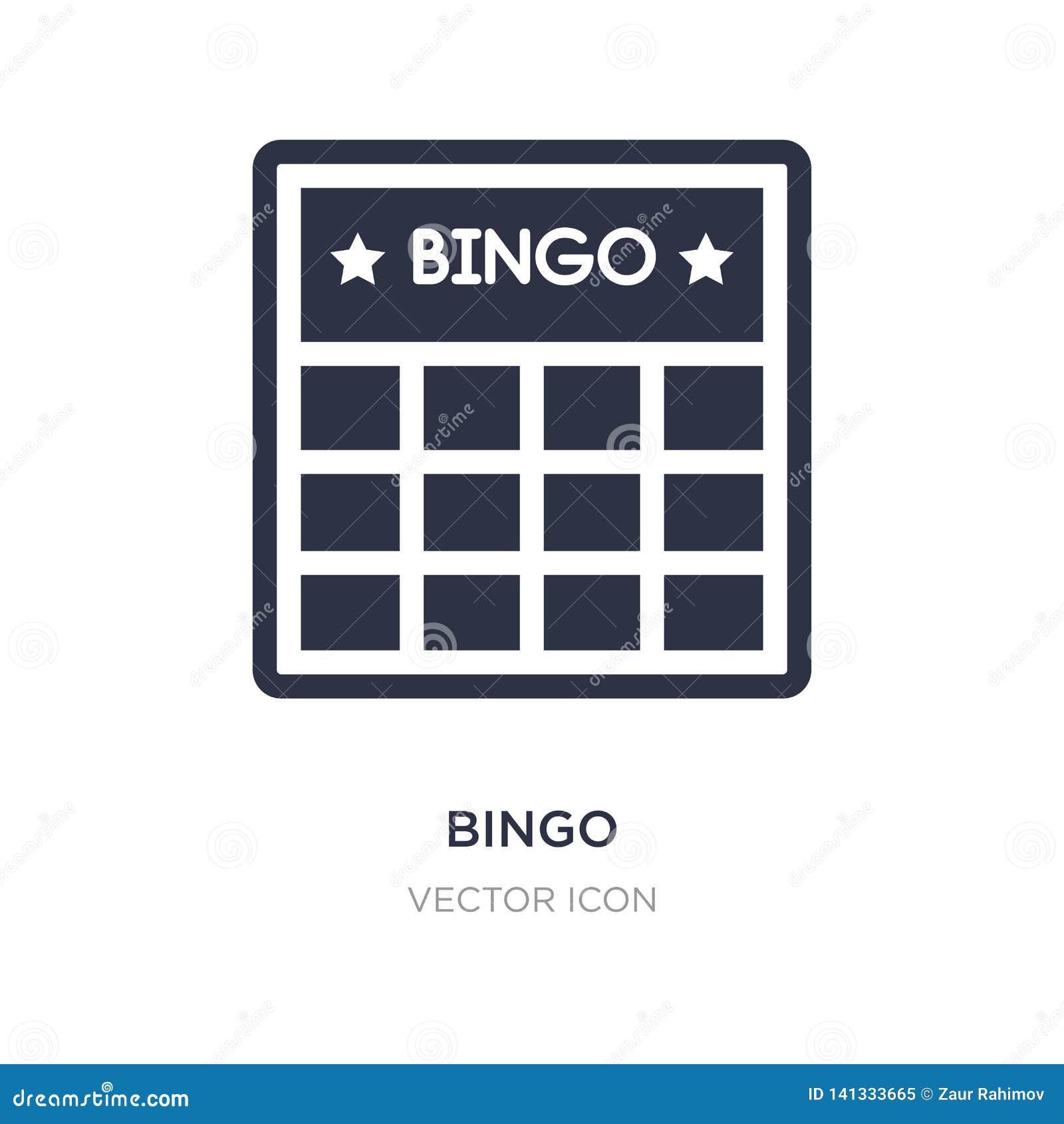 Bingo ikona na białym tle Prosta element ilustracja od rozrywki i arkady pojęcia