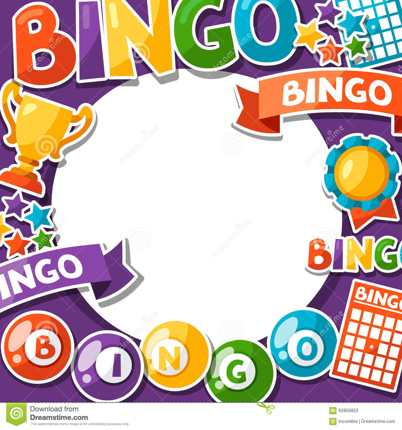Bingo Or Lottery Game Background Stock Illustration - Image: 62856852
