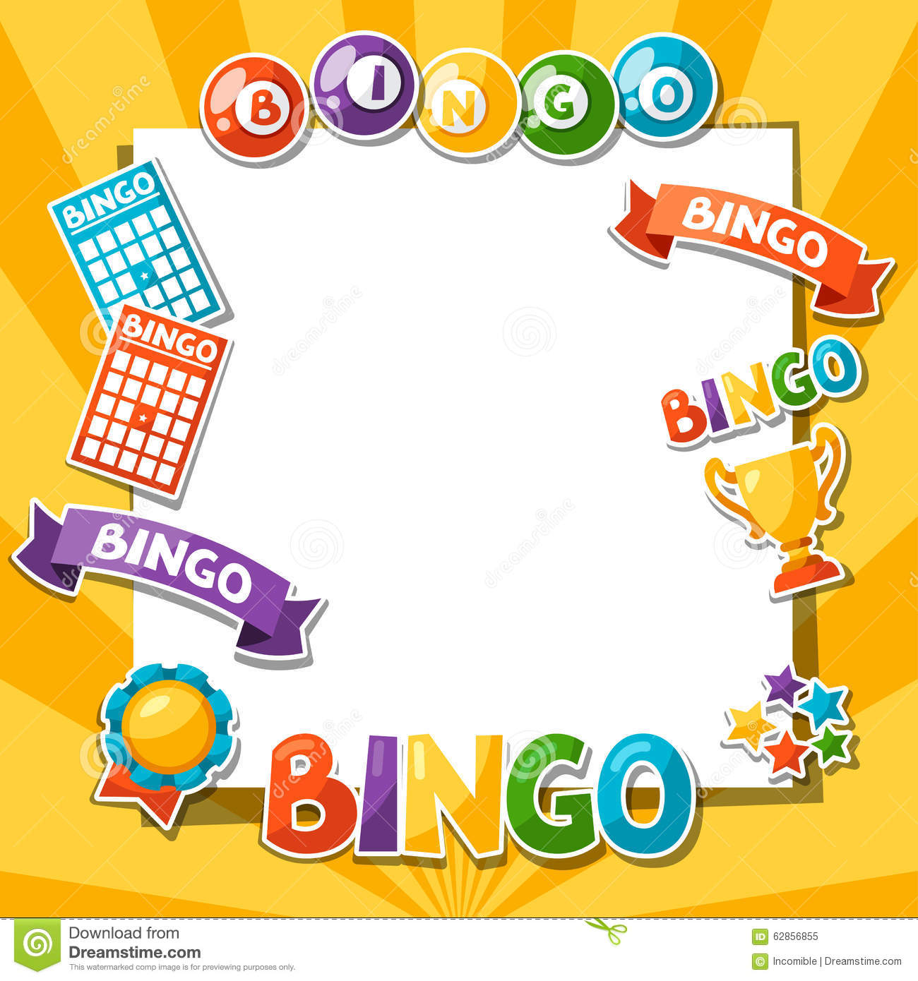 Bingo Or Lottery Game Background Stock Vector - Image ...