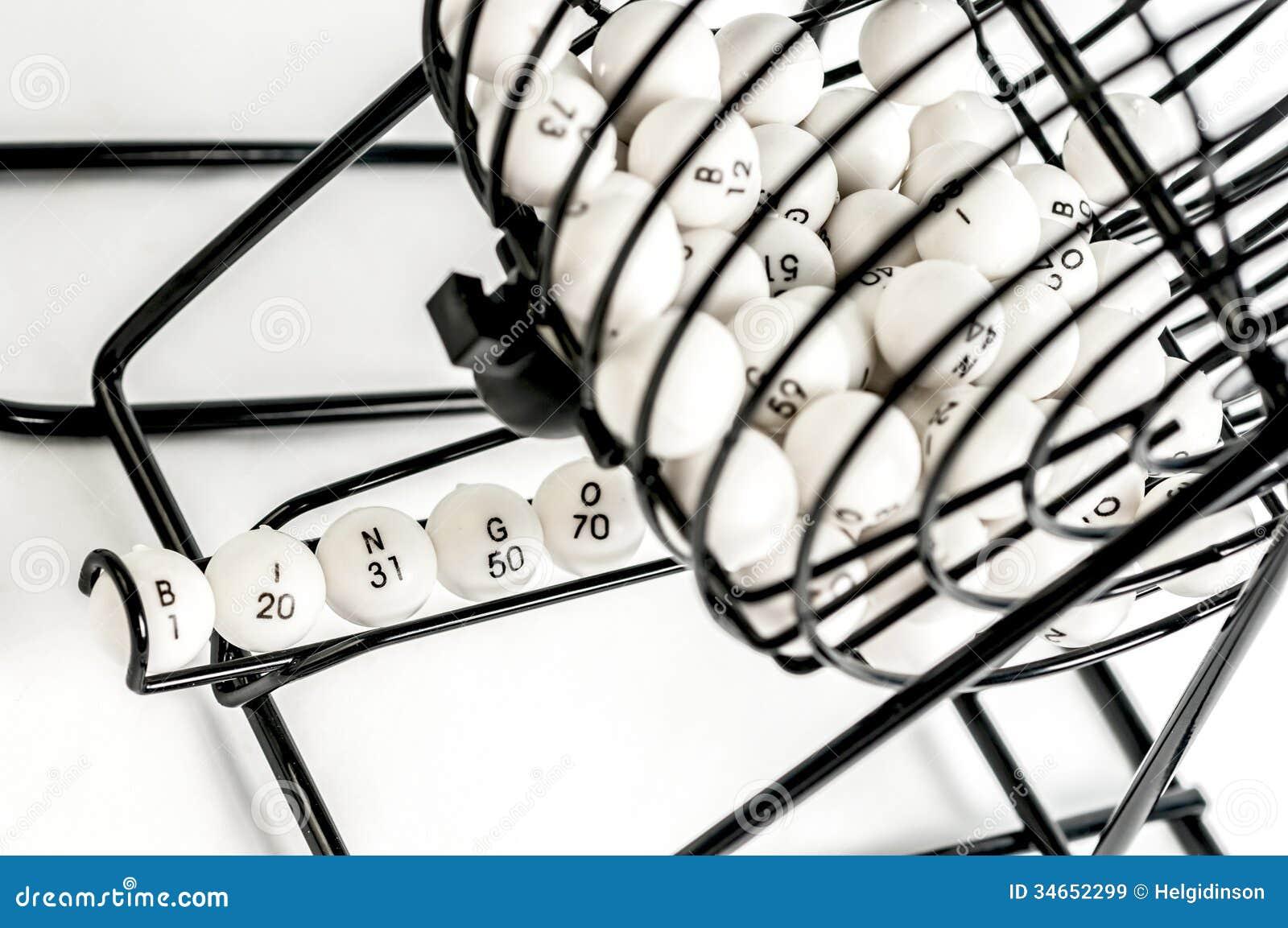 Bingobur med nummerbollar