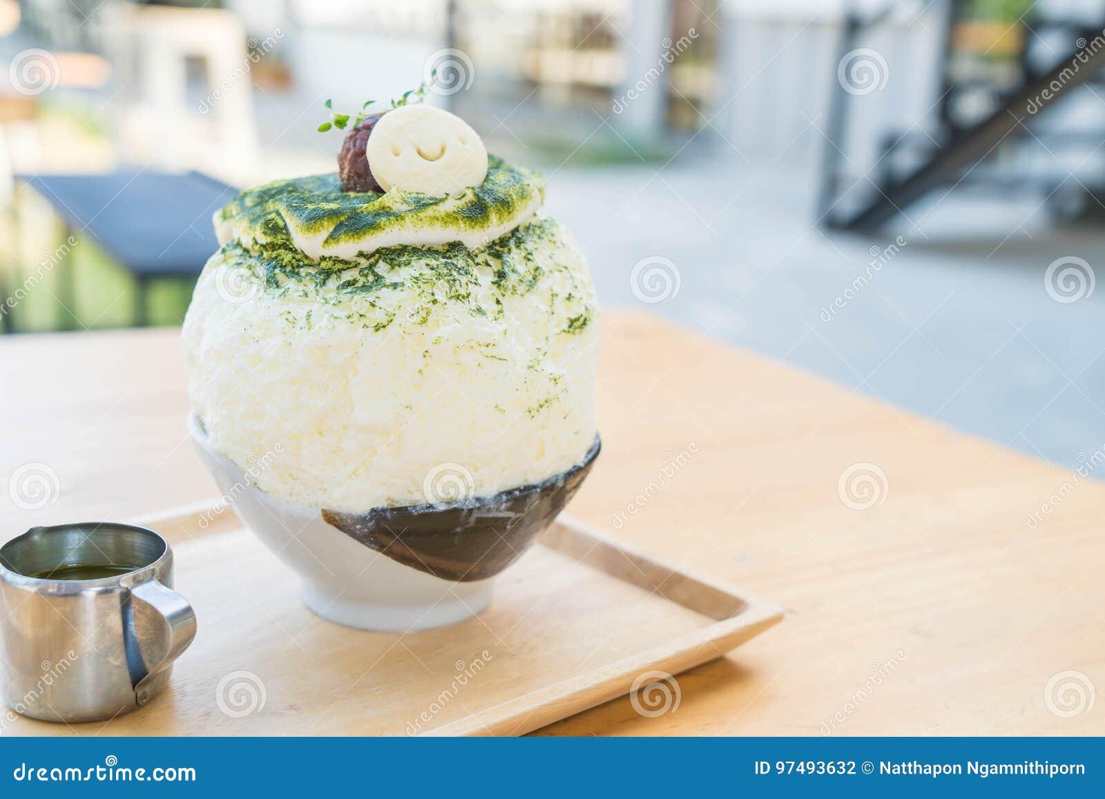 Bingsu del tè verde
