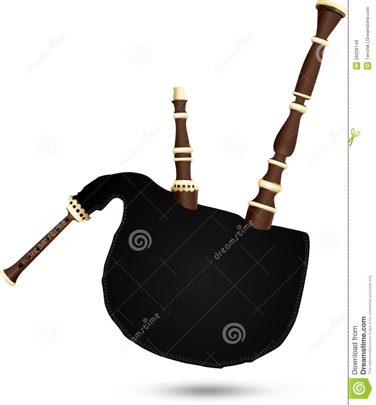 More similar stock images of ` Biniou koz - traditional French bagpipe ...