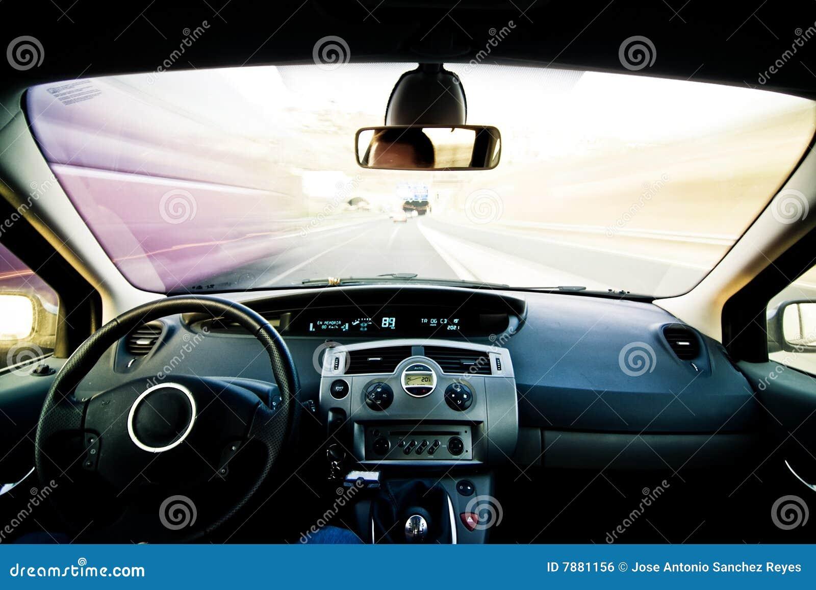 Binnen bewegend voertuig
