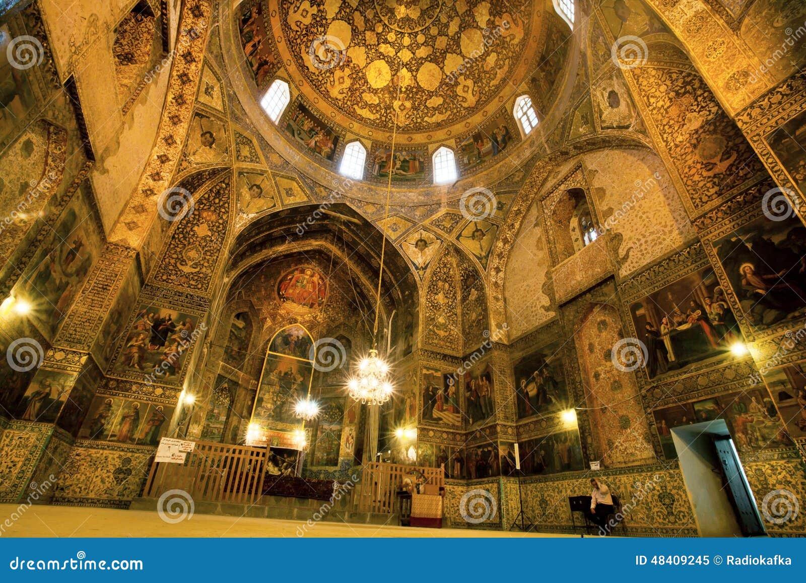 Binnen de oude armeense vank kathedraal met fresko 39 s van het uitstekende decor van jesus het - Binnen deco ...