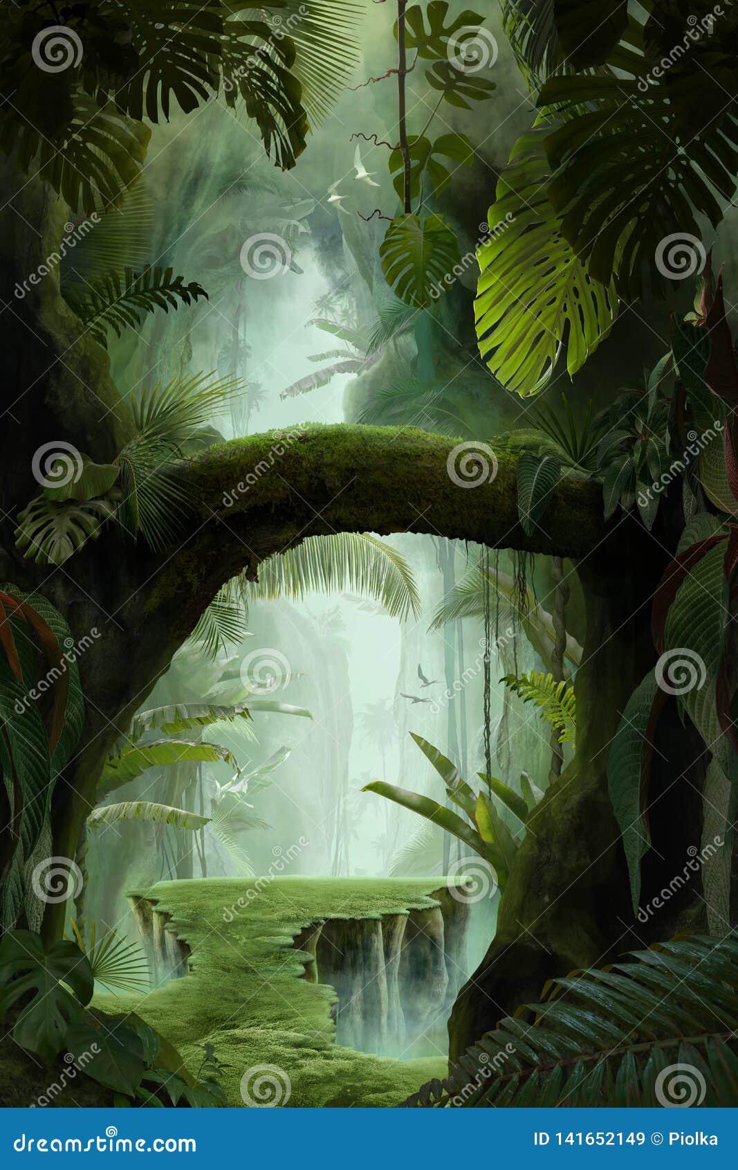 Binnen een diepe mystieke wilderniscanion