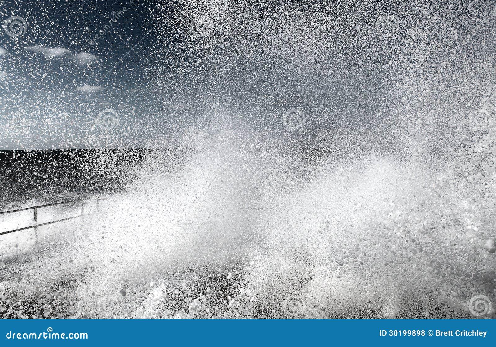 Exploderende watergolf
