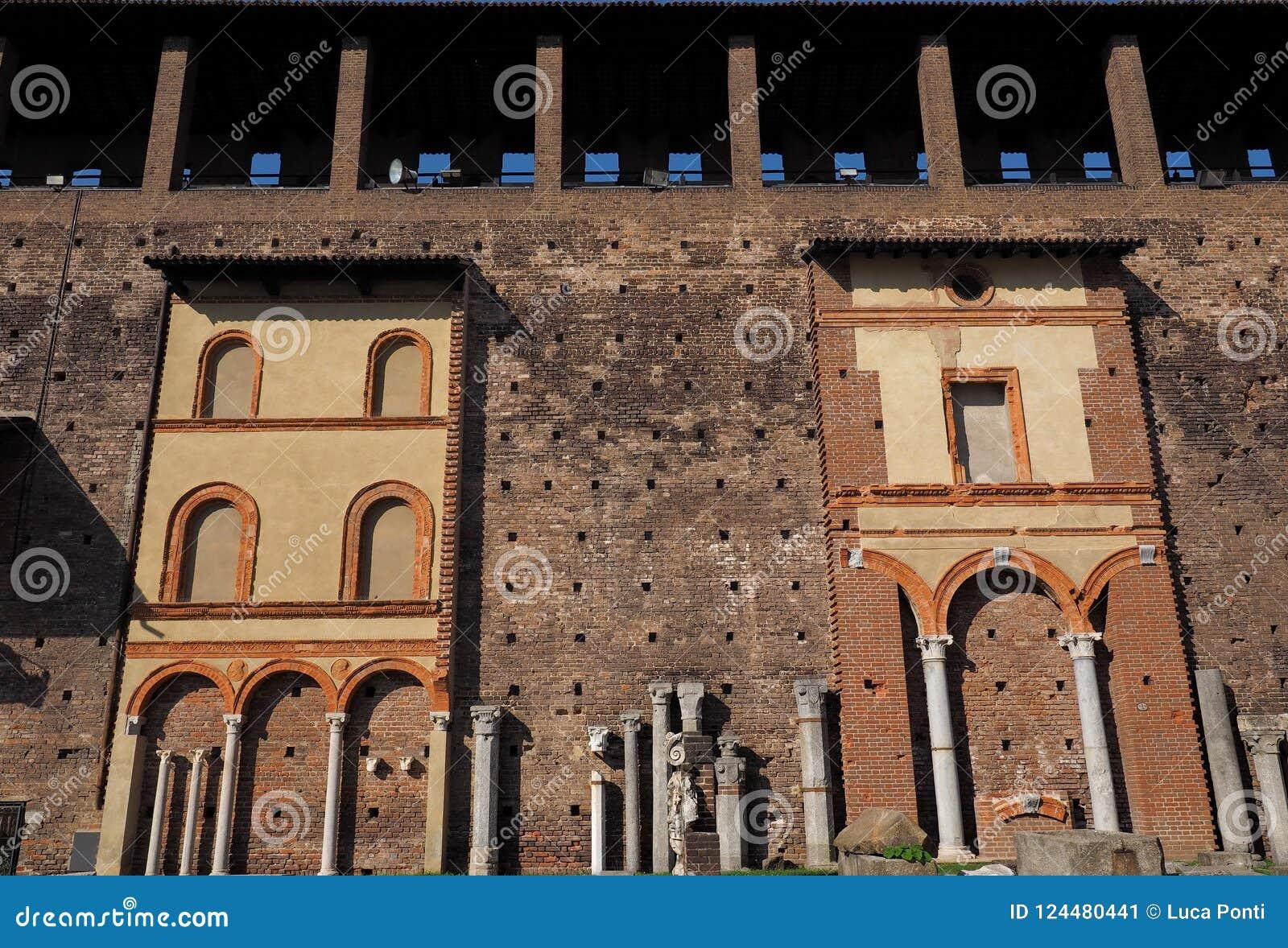 Binnen het Sforza-Kasteel Castello Sforzesco
