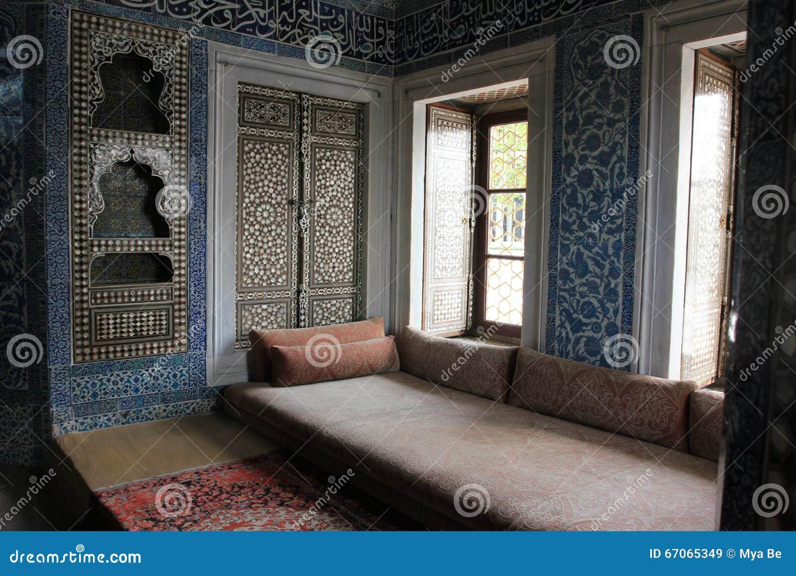Binnen in Topkapi-paleis, Istanboel, Turkije