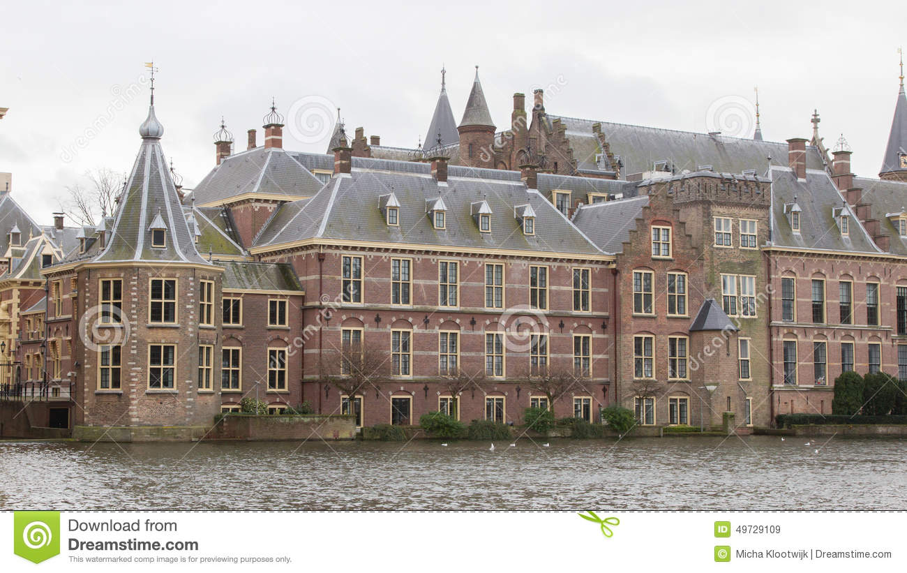 Binnenhof Palace In The Hague (Den Haag) Along The Hofvijfer, T Stock Photo   Image  49729109