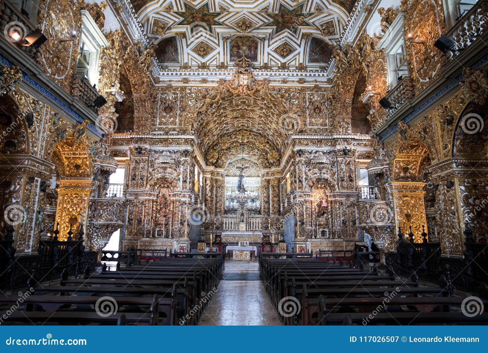 Binnenigreja e Convento DE São Francisco in Bahia, Salvador - Brazilië