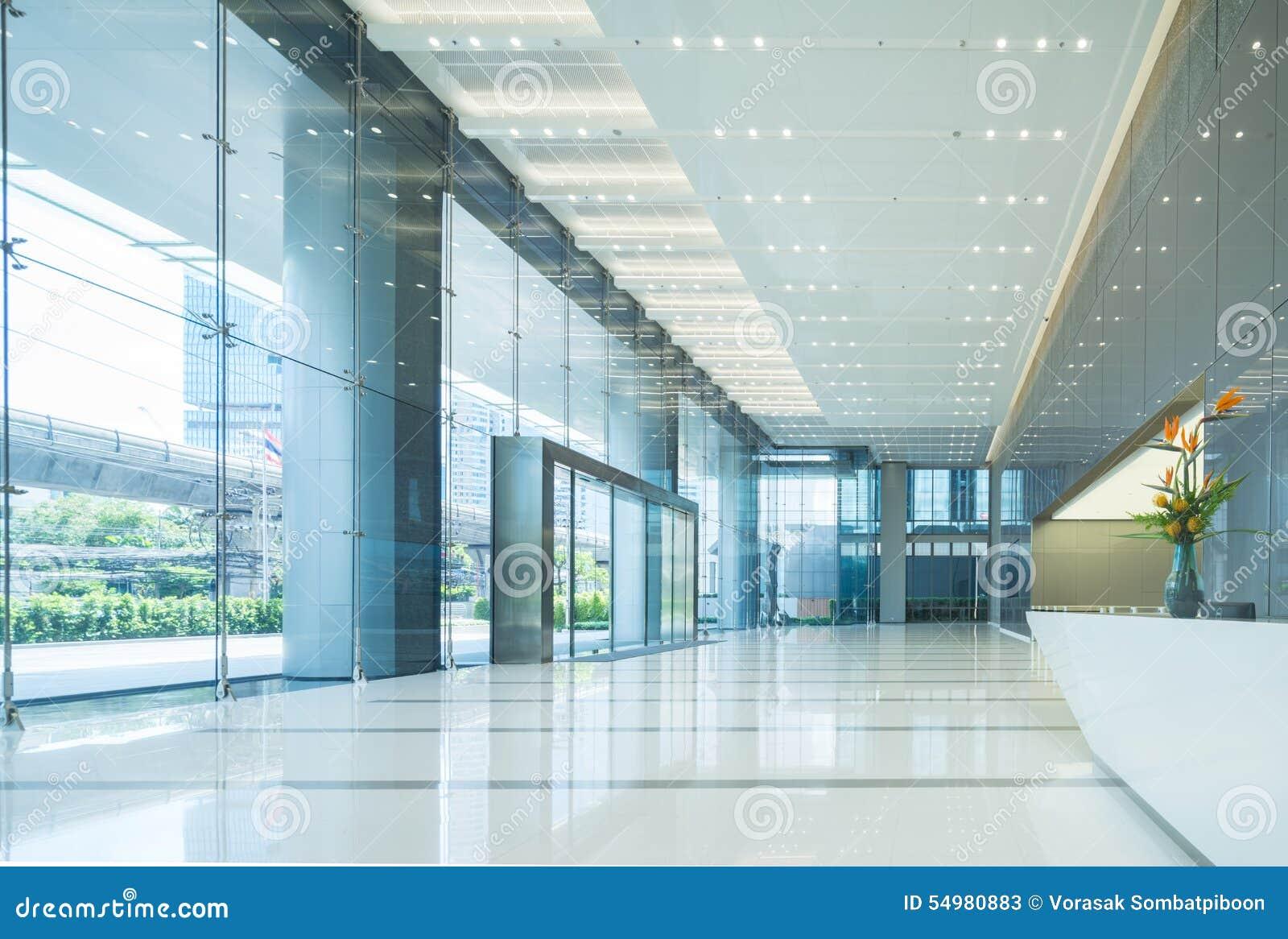 Binnenland van de hal van het bureau