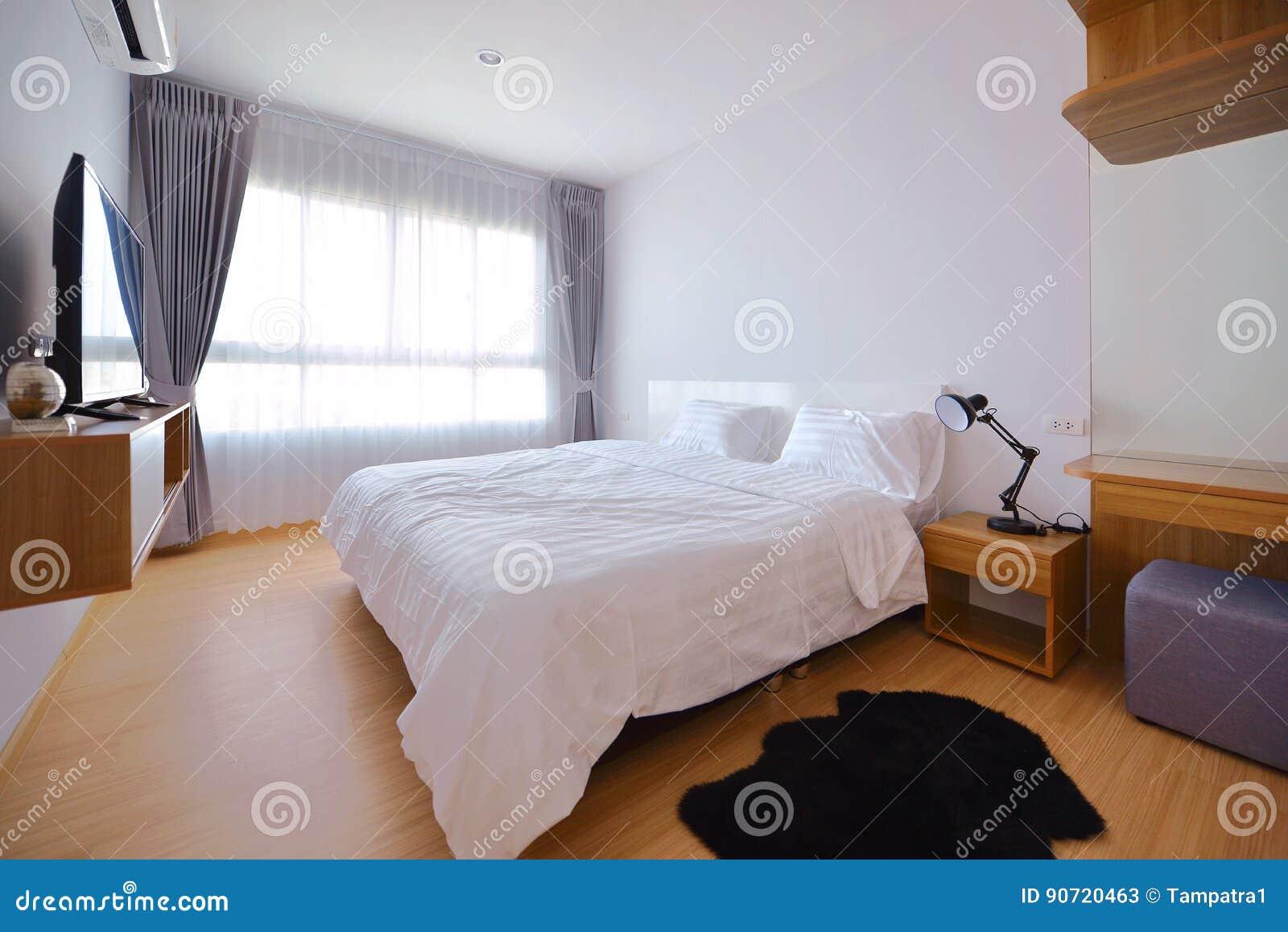 Binnenland van de luxe het moderne slaapkamer en decoratie